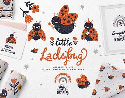 Little Ladybug Clipart and Patterns