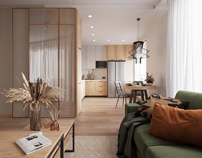 Projekt : Mieszkanie w Nowej Hucie w Krakowie