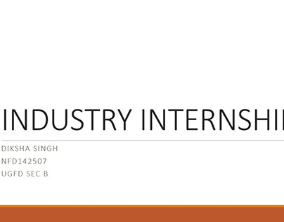 Presentation on Industry Internship