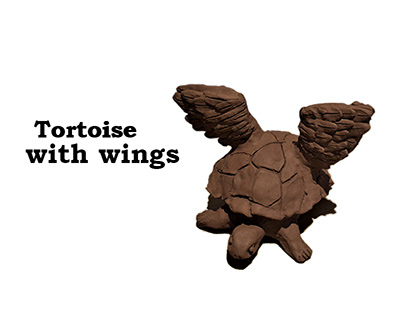 Tortoise with wings