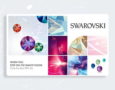 Swarovski visual and web design