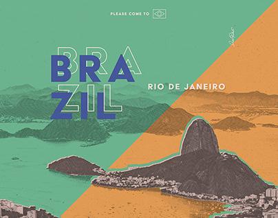 Poster - Rio de Janeiro - Please come to Brazil!