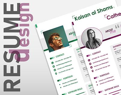 Free Beautiful Resume/CV Template   Illustrator