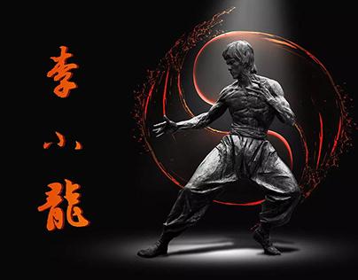 Bruce Lee 李小龙 香港雕像摄像