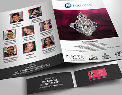 jewellery shop presentation folder