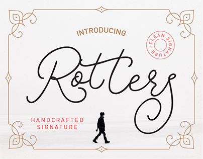 ROTTERS - FREE MONOLINE SCRIPT FONT