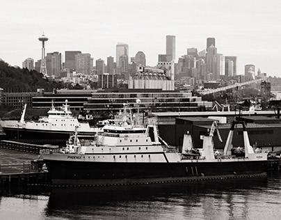 Seattle with virtual Kodak T-Max