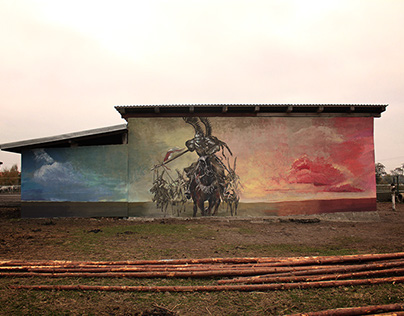 Mural plain air, Nowecin 2016