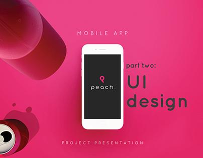 Peach Fitness App - Part Two: UI Design
