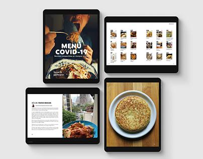 """Mi libro de cocina """"Menú Covid-19"""""""