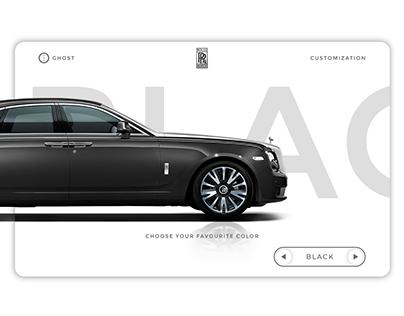 Rolls Royce Customization Concept WebUI