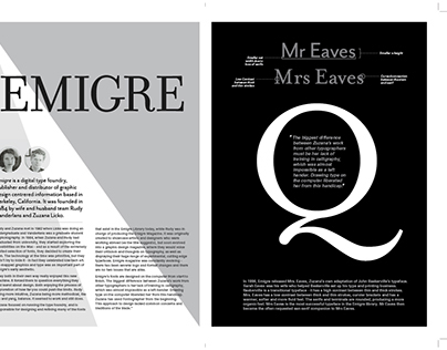 Layout Design: Emigre Type Foundry