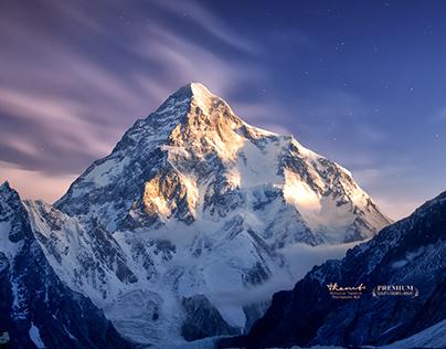 Retouch: K2 Mountain (Mount Godwin-Austen)