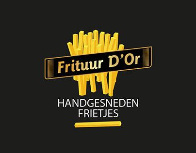 Logo design French fries restaurant (frituur)