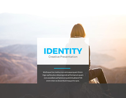 Identity Power Point Presentation Template