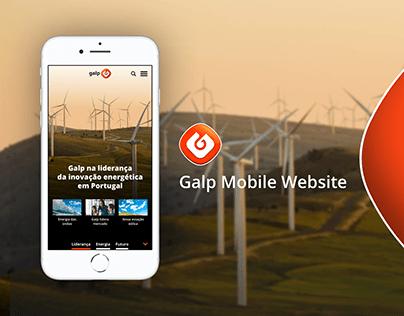 Galp Mobile Website