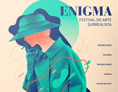 ENIGMA   Festival de Arte Surrealista - Branding