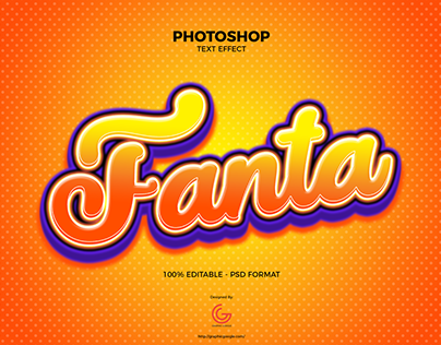Free Fanta Text Effect PSD
