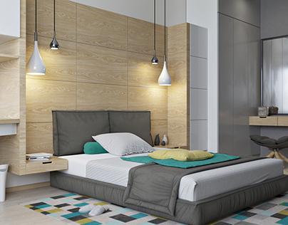 apartment in kiev. bedroom for a girl