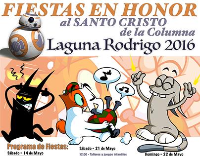 Cartel Fiestas Laguna Rodrigo 2016