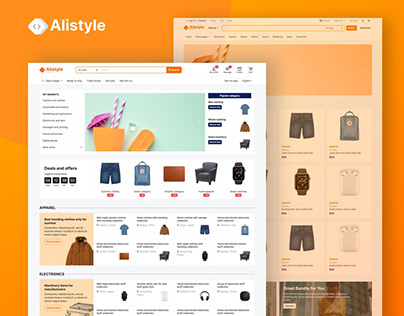 Marketplace e-commerce HTML template