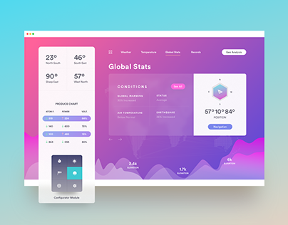 Daily Weather Data -UI/UX Design | Landing Web Page