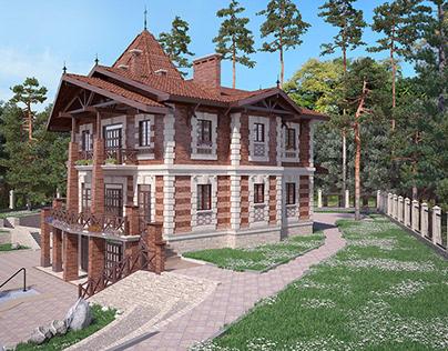 Варианты декорирования фасада особняка