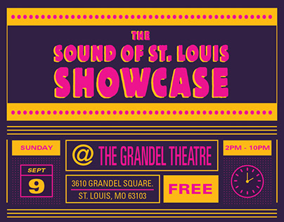The Sound of St. Louis Showcase Branding