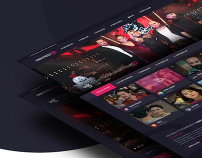 Online TV UI/UX Design