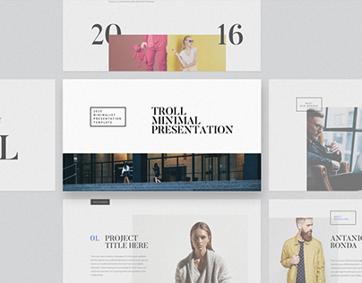 troll - presentation template on behance, Powerpoint templates