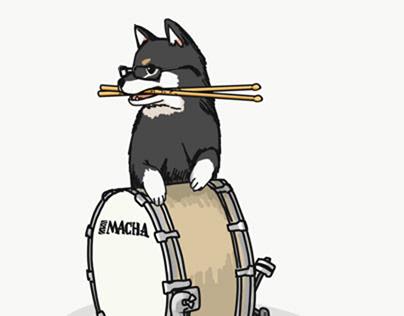 Shiba Inu with Instrument