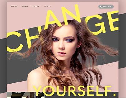 A hair salon website in N.Y