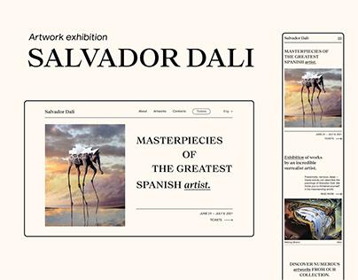 Exhibition of artworks by Salvador Dali