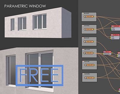 PARAMETRIC WINDOW| Railclone Template | FREE