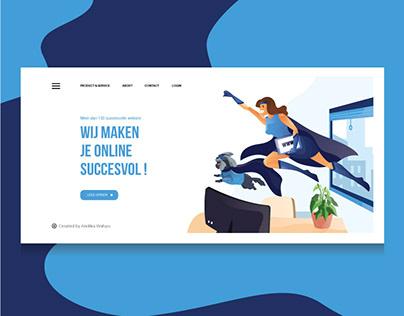 Landing Page Illustration - Genius Talk