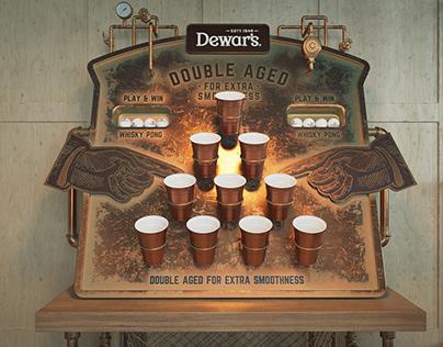 Dewars whisky pong