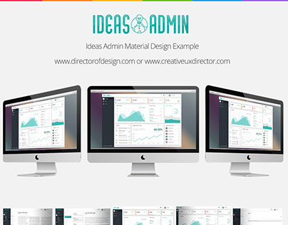 Ideas Admin Material Design Dashboard Showcase