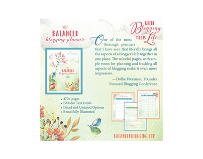 Balanced Blogging Planner Ads