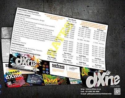 dXine Freelance Rates & 2021 School Calendar