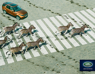 Land Rover Crosswalk Print Advertising Campaign
