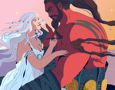 Game of Thrones illos for HuffPost