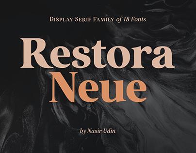 Restora Neue Typeface