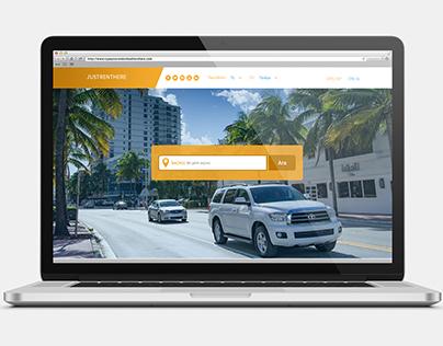 Just Rent Here Website Design