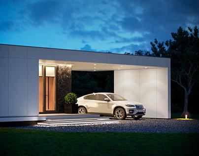 Визуализация модульного дома 175 м кв.