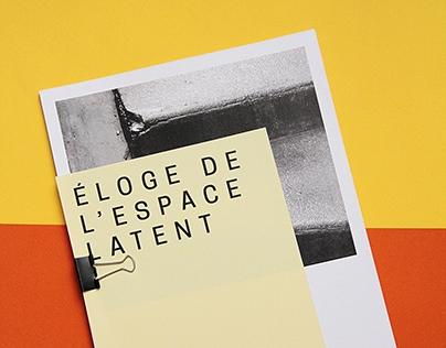Éloge de l'Espace Latent, Série photographique