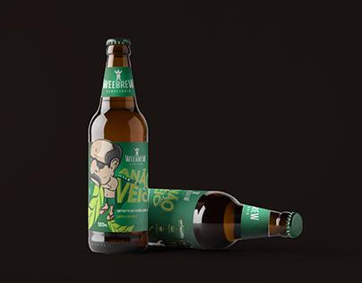 Rótulo Anão Véio - Weebrew Cervejaria