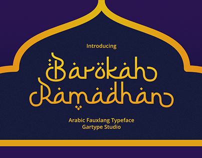 Barokah Ramadhan - Arabic Fauxlang Typeface
