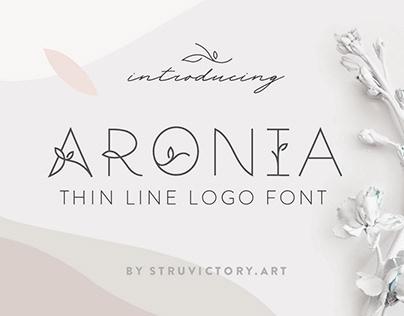 Aronia - Thin Line Logo Font