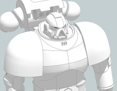 SketchUp Space Marine