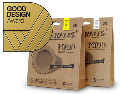 "Award winning packaging ""Downlight in a bag"""